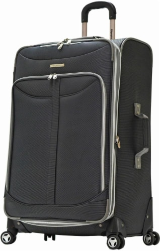 Olympia Tuscany 30-Inch Spinner Rolling Case - Black Perspective: front