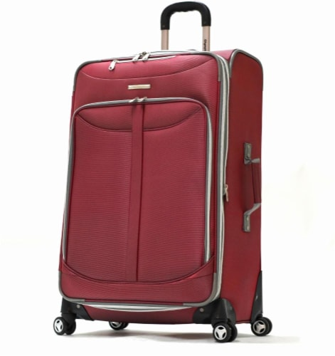 Olympia Tuscany Spinner Rolling Case - Red Perspective: front