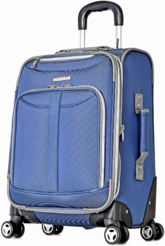 Olympia Tuscany 21-Inch Spinner Carry-On - Blue Perspective: front
