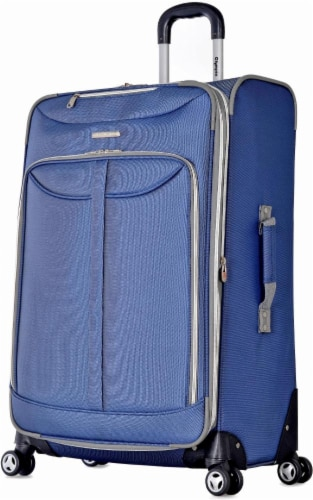 Olympia Tuscany 30-Inch Spinner Rolling Case - Blue Perspective: front
