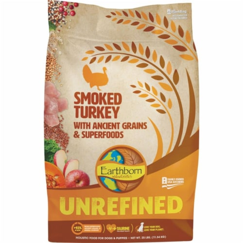 Midwestern Pet Food PF56032 25 lbs Earthborn Unrefined Turkey Dog Food Perspective: front