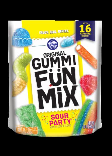 The Gummi Factory Sour Party Original Gummi Fun Mix Perspective: front