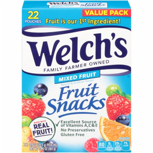 Welch's Mixed Fruit Fruit Snacks 22 Count Perspective: front