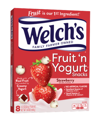 Welch's Fruit 'n Yogurt Strawberry Snacks Perspective: front