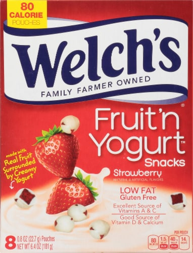 Welch's Strawberry Fruit 'n Yogurt Snacks 8 Count Perspective: front