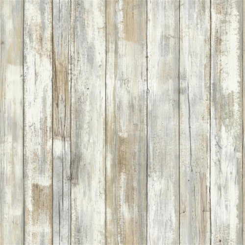 RoomMates Distressed Wood Peel & Stick Wallpaper Perspective: front