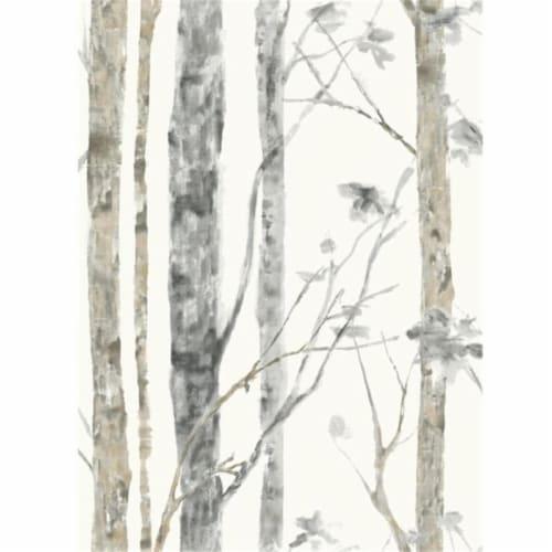 Roommates Birch Trees Peel & Stick Wallpaper Perspective: front