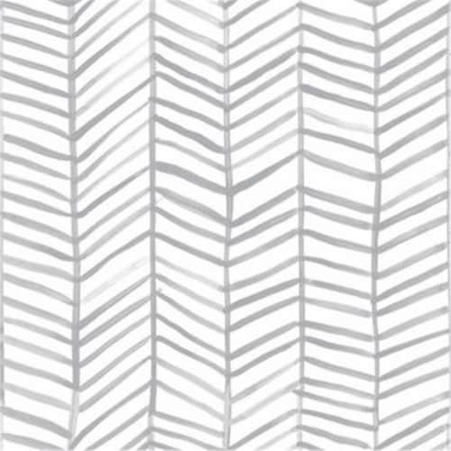 RoomMates Gray Cat Coquillette Herringbone Peel & Stick Wallpaper Perspective: front