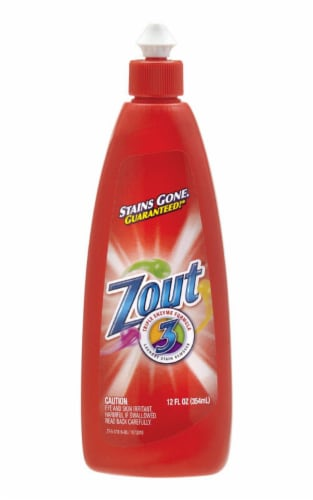 Zout  No Scent Laundry Stain Remover  Liquid  12 oz. - Case Of: 12; Perspective: front