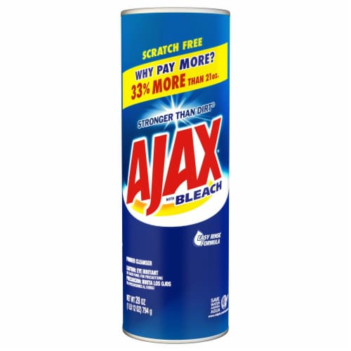 Ajax Powder Cleanser with Bleach Perspective: front