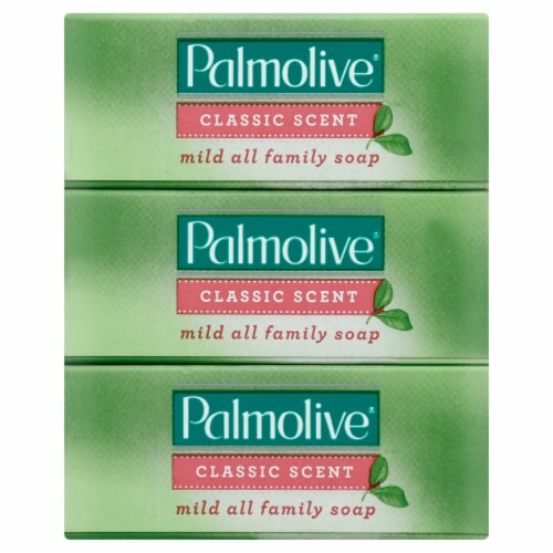 Palmolive Classic Scent Bar Soap 3 Pack Perspective: front
