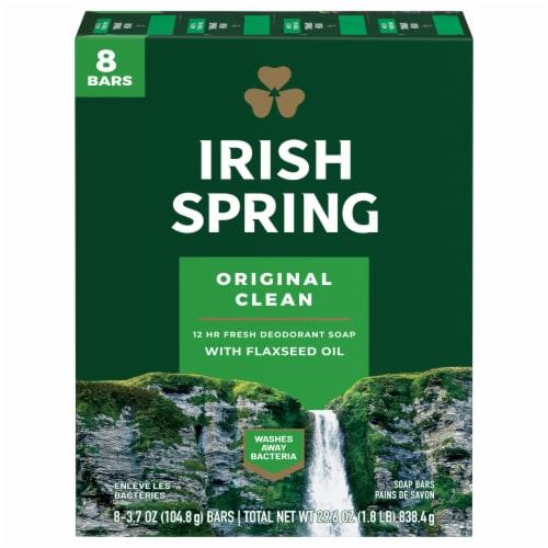 Irish Spring Original Deodorant Soap Bars Perspective: front