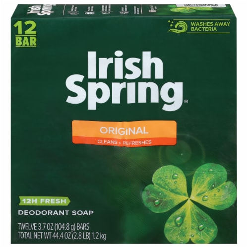 Irish Spring Original Bar Soap Perspective: front