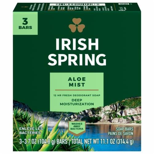 Irish Spring Aloe Soap Bars Perspective: front