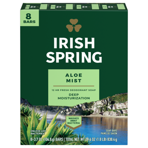 Irish Spring Aloe Bar Soap Perspective: front