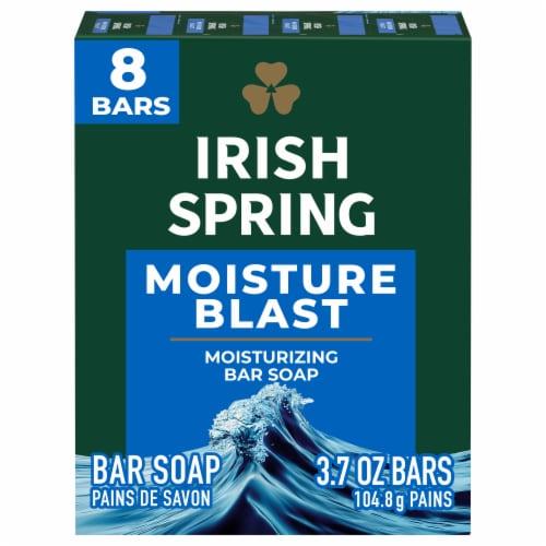 Irish Spring Moisture Blast Bar Soap Perspective: front