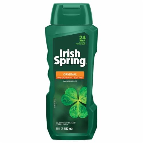 Irish Spring 24-Hour Fresh Original Body Wash Perspective: front