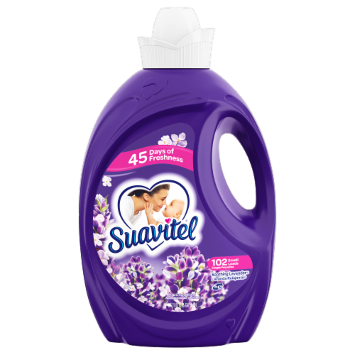 Suavitel Soothing Lavender Liquid Fabric Conditioner Perspective: front