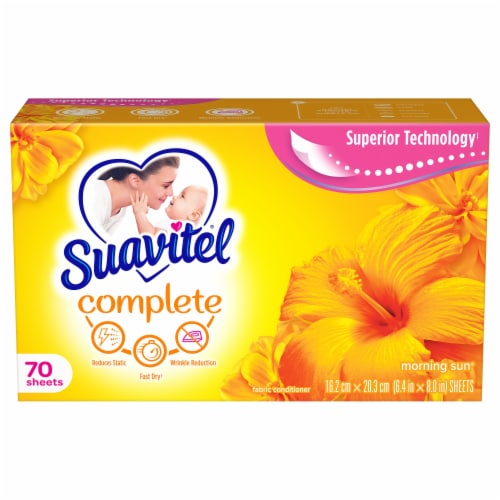 Suavitel Complete Morning Sun Fabric Softener Dryer Sheets Perspective: front