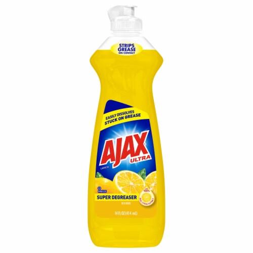 Ajax Ultra Super Degreaser Lemon Dish Liquid Perspective: front