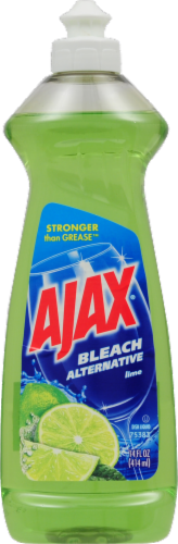 Ajax Lime Bleach Alternative Dish Liquid Perspective: front