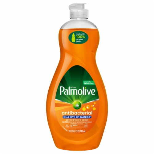Palmolive Ultra Antibacterial Orange Dish Liquid Perspective: front