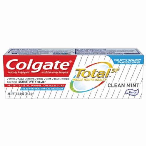 Colgate Total SF Whole Mouth Health Clean Mint Toothpaste Perspective: front