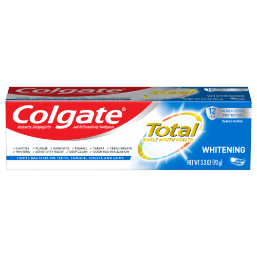 Colgate Total Whitening Gel Anticavity Toothpaste Perspective: front