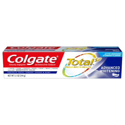 Colgate Total Advanced Whitening Toothpaste Perspective: front