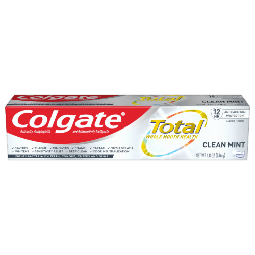Colgate Total Clean Mint Toothpaste Perspective: front