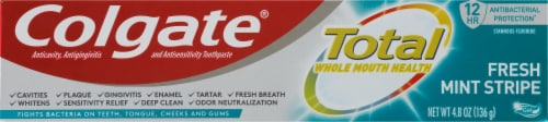 Colgate Total Fresh Mint Stripe Gel Toothpaste Perspective: front