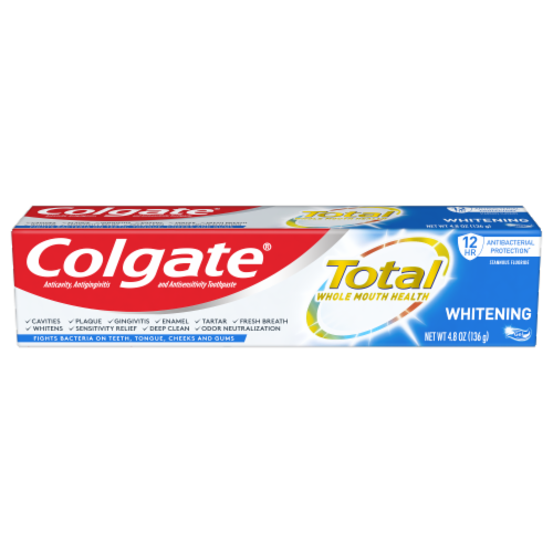 Colgate Total SF Whitening Gel Toothpaste Perspective: front