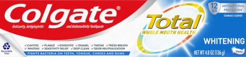 Colgate Total SF Whitening Toothpaste Perspective: front