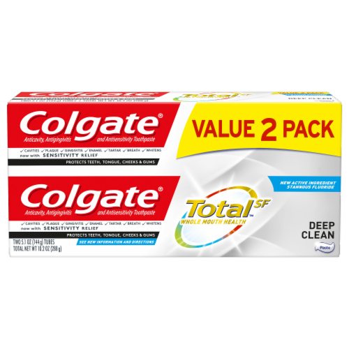 Colgate Total Deep Clean Toothpaste Perspective: front