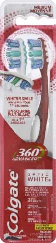 Colgate  360 Advanced Optic White Toothbrush Medium Perspective: front