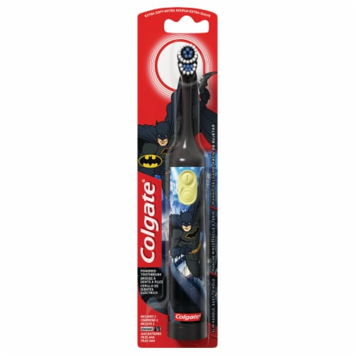 Colgate Kids Batman Battery Operated Toothbrush Perspective: front