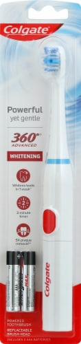 Colgate 360 Advanced Whitening Soft Powered Toothbrush Perspective: front