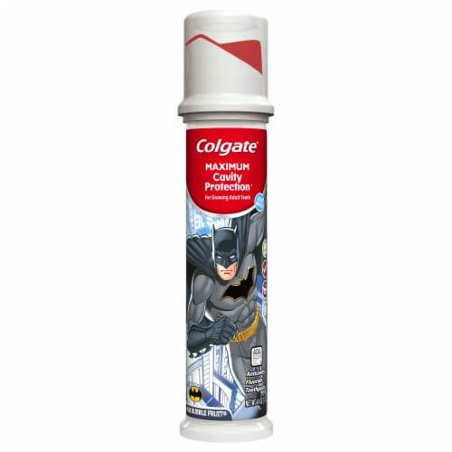 Colgate Maximum Cavity Protection Batman Kids Toothpaste Pump Perspective: front