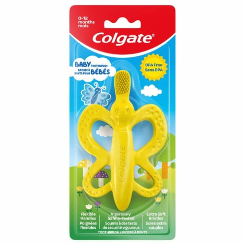 Colgate 0-12 Month Butterfly Baby Toothbrush Perspective: front