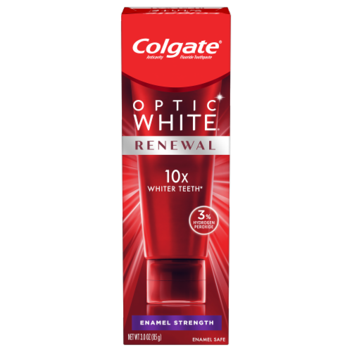 Colgate Optic White Renewal  Enamel StrengthToothpaste Perspective: front