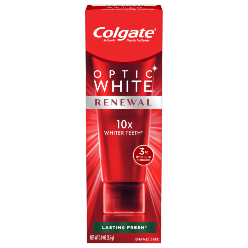 Colgate Optic White Renewal Lasting Fresh Anticavity Toothpaste Perspective: front