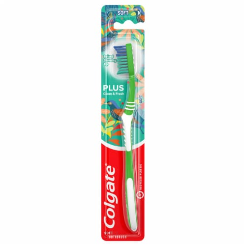 Colgate® Plus Soft Toothbrush Perspective: front