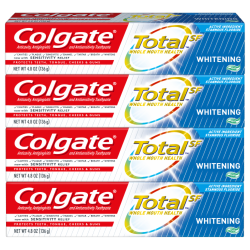 Colgate Total Whitening Gel Toothpaste Perspective: front