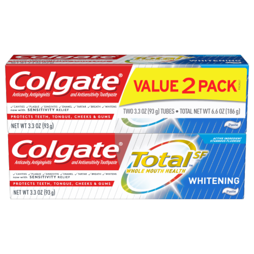 Colgate TotalSF Whole Mouth Health Whitening Toothpaste Perspective: front