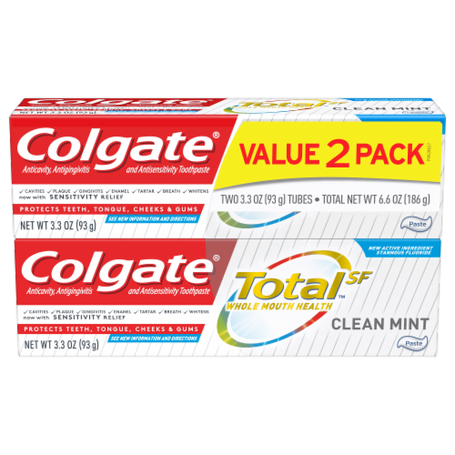 Colgate TotalSF Whole Mouth Health Clean Mint Toothpaste Perspective: front