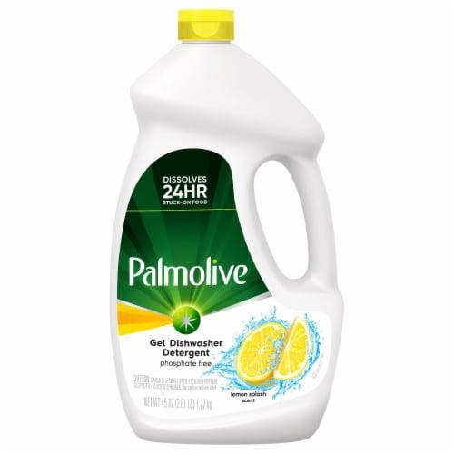 Palmolive Eco+ Phosphate Free Lemon Splsh Scented Dishwashing Detergent Perspective: front