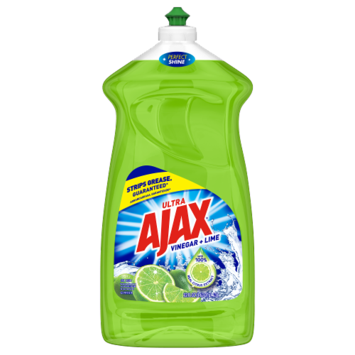 Ajax Ultra Vinegar + Lime Liquid Dish Soap Perspective: front