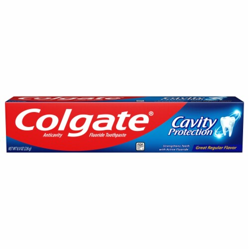 Colgate Cavity Protection Toothpaste Perspective: front
