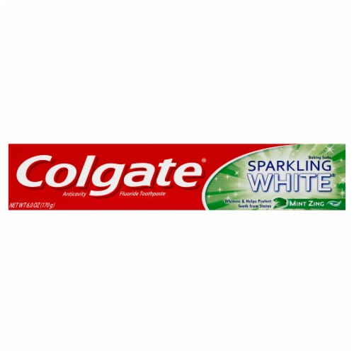 Colgate Sparkling White Whitening Mint Zing Toothpaste Perspective: front