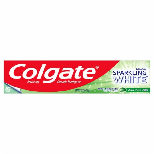 Colgate Sparkling White Mint Zing Toothpaste Perspective: front
